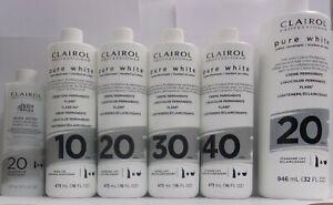Clairol Professional Pure White Demi & Permanent Color Creme Developer~Pick Size