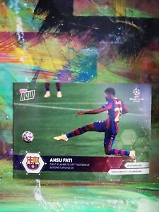 2020 Topps Now Ansu Fati First Player Scoring Two Goals 💎 MINT
