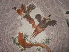 7Y new P/Kaufmann GAME BIRDS printed cotton fabric Amethyst Floral Birds design