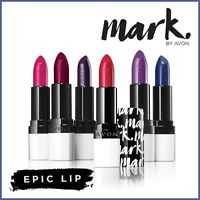 Avon Mark EPIC LIP Lipstick - Long Lasting with Built in Primer - All Shades NEW