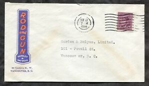 p1285 - VANCOUVER 1944 Blackout on ADVERTISING Cover Rod & Gun Fishing Hunting