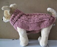 handknitted aran jumper for a small dog, eg chihuahua