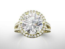 6.00 CTS ROUND D/VVS2 NATURAL DIAMOND  SOLITAIRE ENGAGEMENT RING 18K YELLOW GOLD