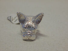 ANTHROPOLOGIE RING CULOYON FRANCE FRENCH BULL DOG SILVER PLATED sz 6 $198