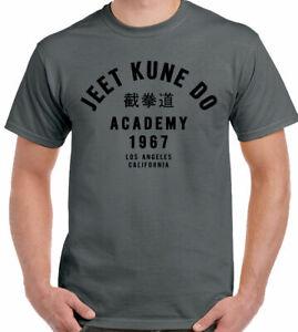 Bruce Lee T-Shirt Jeet Kune Do Academy Mens Martial Arts MMA Bruce Lee Top