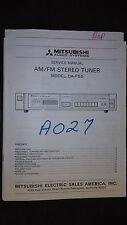 mitsubishi da-f55 service manual original stereo radio tuner am fm