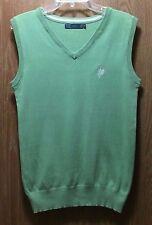 Zara Woman Green Cashmere Cotton Banded Bottom Sleeveless Sweater Vest Sz Large