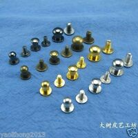Solid Brass Nail Rivets Chicago Screws for 4-15mm Leather eather Belt Wallet  Cr