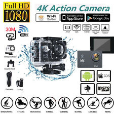 4K Ultra Wifi Sport Action Camera 2.0 Mini DV 1080P HD Cam DVR 30M Waterproof US