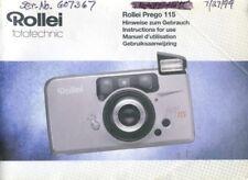 Rollei Prego 115 Instruction Manual (multi-language)