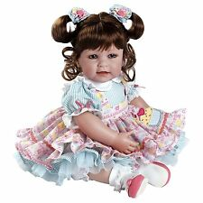 "Adora 20"" BABY PLAY DOLL PIECE OF CAKE Brown Hair Blue Dress Pink Shoes NEW"