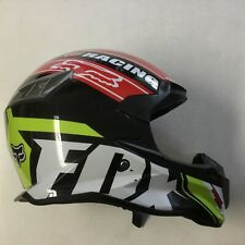Fox Racing Youth Motor-cross Helmet Multi-color Used Missing Visor Clean