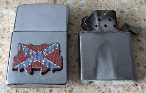 Original Zippo Brushed Chrome Lighter - Customised for Lynyrd Skynyrd - used