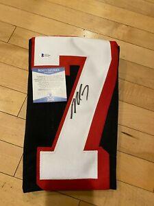 Michael Vick Autographed Signed Atlanta Falcons Custom Football Jersey - BAS COA