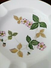 "Wedgwood Bone China ~ Wild Strawberry ~ 4-1/2"" Ashtray ~ Mint"