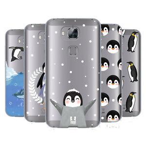 HEAD CASE DESIGNS PENGUIN COLLECTION GEL CASE & WALLPAPER FOR HUAWEI PHONES 2