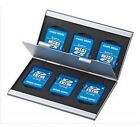 Aluminum 6 slot SD SDHC MMC Memory Card Storage Box  Holder for Canon Nikon Sony