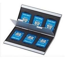 aluminium 6x SD SDHC MMC Carte Mémoire Boîte de rangement Support BOÎTIER POUR