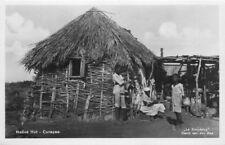 Curacao Dutch West Indies Caribbean 1950s Native Hut La Simpetica RPPC 8893