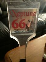 Vintage Neptune 66 Ale BEER TAP HANDLE Lucite 10 inches high rare