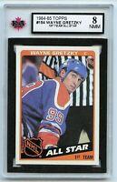 1984-85 Topps #154 Wayne Gretzky AS Graded 8.0 NMM (*G2020-163)