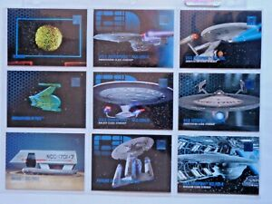 1995 SKYBOX *STAR TREK 30 YEARS PHASE 1* COMPLETE 100 CARD BASE SET SHIPS & TECH