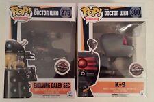 Funko Pop Doctor Who K-9 & Evolving Dalek SEC Game Stop Exclusive (2) Figure Lot