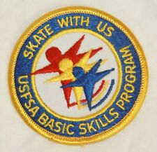 Usfsa Basic Skills Program Skate With Us patch batch embroidered new