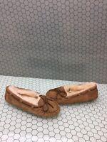 UGG Australia BELLA II Chestnut Suede Wool Lined Slip On Loafers Women's Size 7