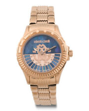 Roberto Cavalli by Franck Muller Women's LOGO DIAL Diamonds Gold IP Swiss Watch