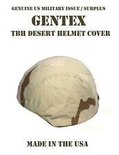 Med Gentex Tbh Ach Us Military Ballistic Combat Helmet Dcu Desert Camo Cover New