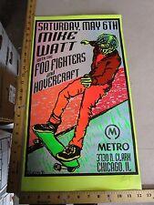 Rock Roll Concert Skate Poster Mike Watt Foo Fighters Lindsey Kuhn Yellow S/N LE