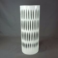 New! Cyan Design Medium Marquise Vase 06758 Glass White and Smoked 11.75 inches