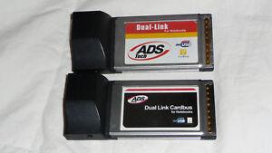 ADS Dual Link Cardbus Card, DLX-181 (Quantity 2)