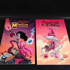 ADVENTURE TIME MARCELINE SCREAM QUEENS AND FIONA & CAKE GRAPHIC NOVEL LOT NICE!!