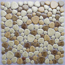 Fashion ceramic pebble mosaic tile kitchen bathroom background indoor wall tiles