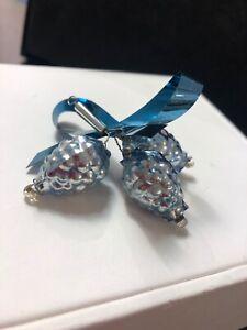 Weihnachtsschmuck Baumschmuck Zapfen blau Christbaumkugel