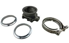 """T25 T28 GT25 GT28 5 Bolt To 3"""" 76mm V-Band Clamp Flange Turbo Down Pipe Adapter"""
