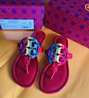 NIB Tory Burch Ruby Red Rainbow Limited Edition Miller Sandal Womens Size 6.5