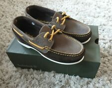 Timberland Womens Brown & Mustard Suede Boat Deck Shoes - UK Size 5 - BRAND NEW