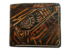 Men's 3D Genuine Leather Wallet, Hand-Carved, Tooled, Transformers, Decepticons