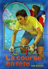 Affiche Pliée 120x160cm LA COURSE EN TÊTE (1973) Joël Santoni, Eddy Merckx NEUVE