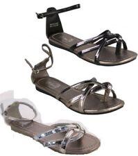 Zapatos de tacón de mujer planos de color principal negro