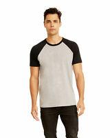 Next Level Apparel 3650 Cotton Short Sleeve Raglan Tee T-Shirt For Men