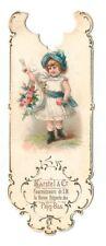 Karstel and Co. vintage bookmark. Victorian girl.