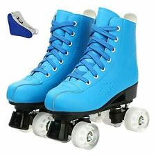 New listing Women's Roller SkatesFaux Leather Roller Skates High-top Roller Skates Four-W...