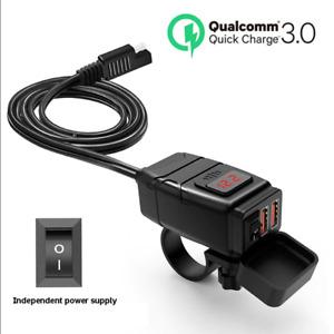 2 Ports USB Chargeur Adaptateur Prise Allume Cigare 12V Pr Moto Etanche