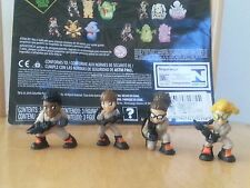 """GHOSTBUSTERS ECTO MINIS SET OF 4 Erin Patty Movie MINI FIGURES 2"""" LOOSE 2016 New"""