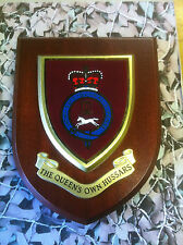 Regimental Plaque / Shield - Queens Own Hussars