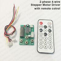 3V-24V 5v Adjustable Speed Stepper Motor Driver Controller Board +Remote Control